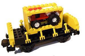 Lego 4 Stück  Konvolut Seitenteile Kipplore Eisenbahn Waggon gelb