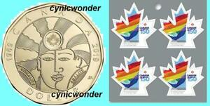 2017-Canada-Gay-Marriage-Mini-pane-Of-4-Stamps-amp-2019-Equality-1-Coin-Sc-3007a