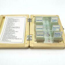 Amscope 25 Pc Prepared Microscope Slides Fungus Insect Mammal Plant Specimens