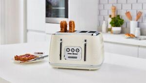 Morphy Richards 243011 Verve 4 Slice Toaster Cream