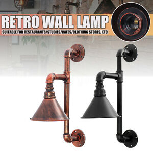 Retro-Industrial-Wall-Pipe-Lamp-Vintage-Light-Steampunk-Wall-Sconce-Lights-UK