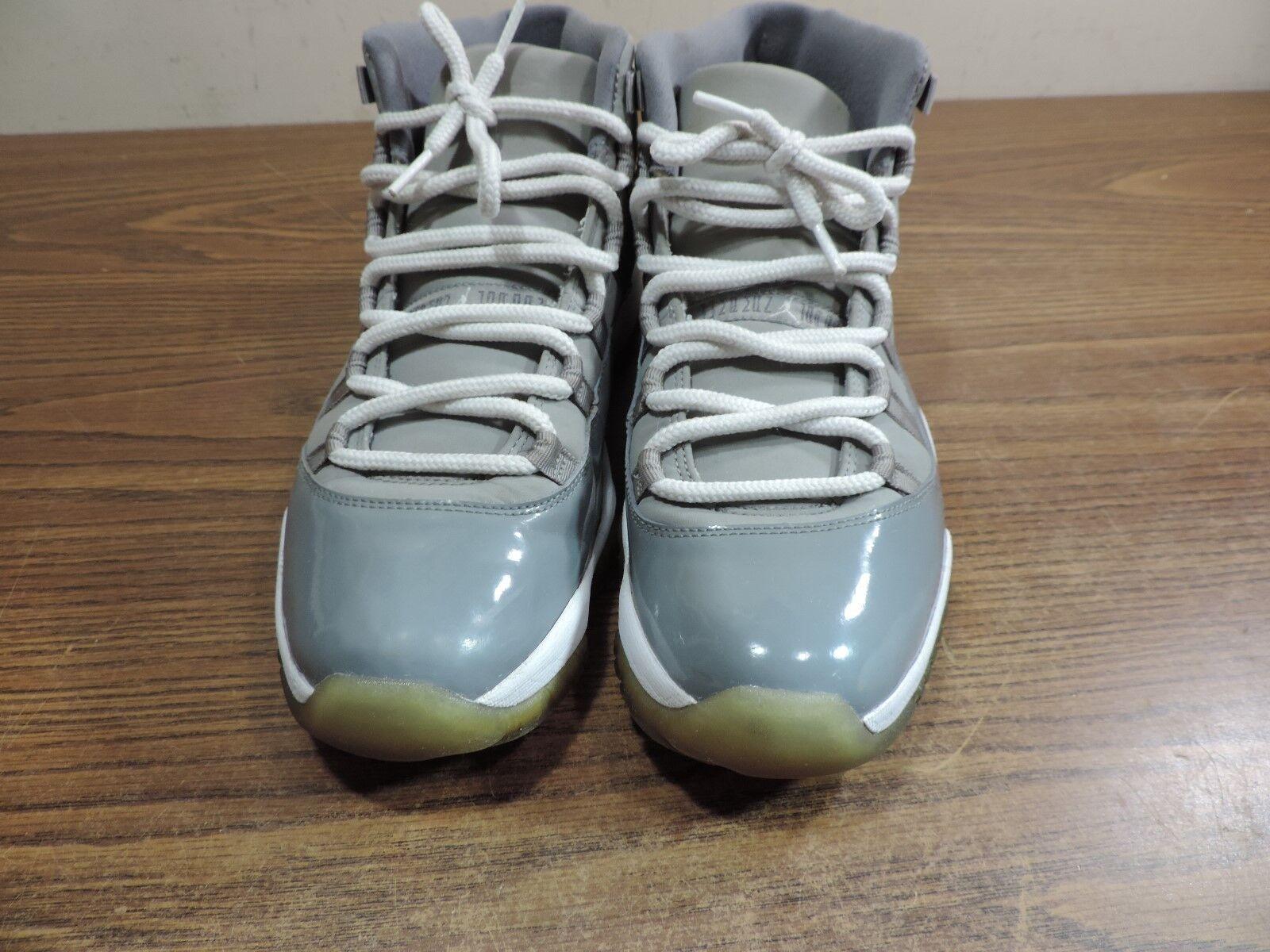 2010 Nike Air Jordan 11 XI Retro Cool Grey White 378037-001 - Size 10.5