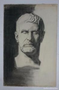 Dibujo-de-busto-de-escultura-clasica-romana-del-autor-Alberto-Duce-Vaquero-Pinta