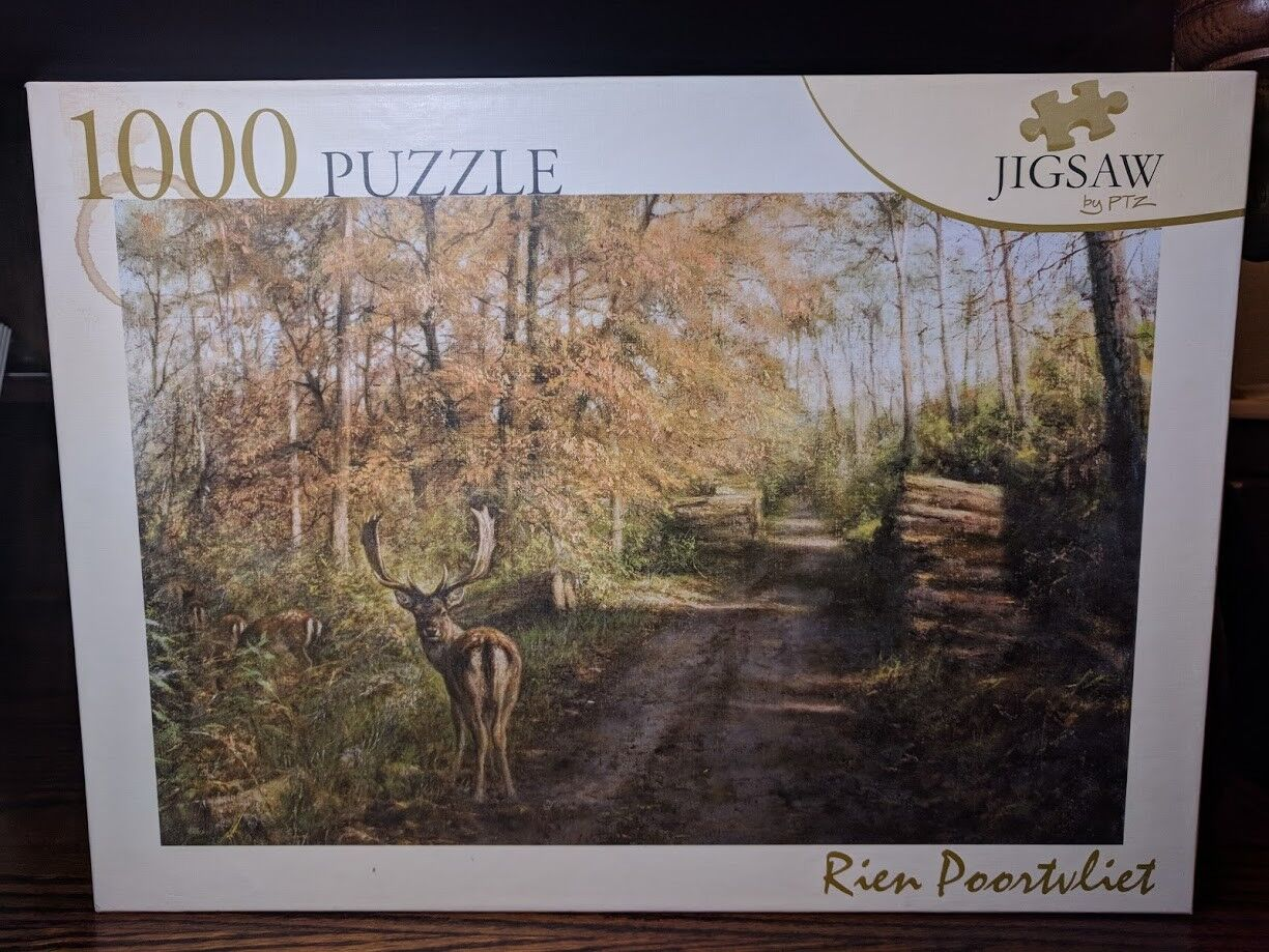 Rien Poortvliet Dutch Artist DEER IN THE WOODS Jigsaw Puzzle by PTZ 1000 Piece