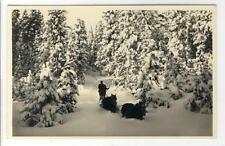 AK Davos ?, Wegbrechen, Winter, Pferdeschlitten 1930