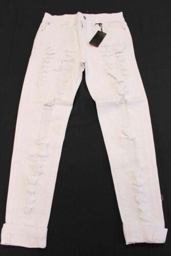 GJG Denim Women Mid Rise 5 Pocket Boyfriend Jeans White MM1 Size 1//3//5//7//9//11//13
