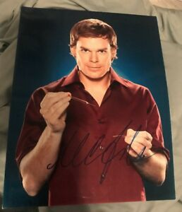 MICHAEL C HALL SIGNED 8X10 PHOTO DEXTER W/COA+PROOF RARE WOW