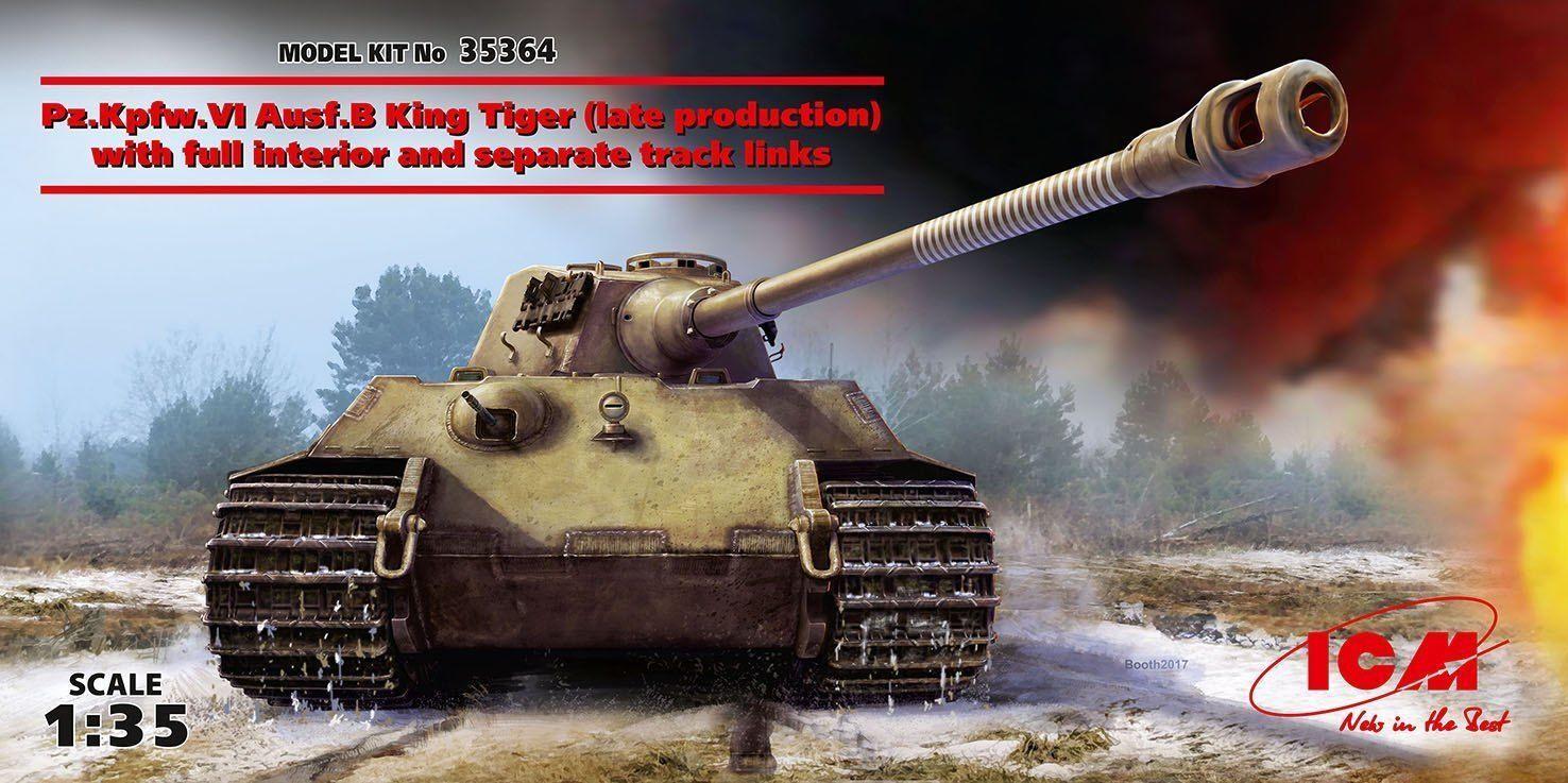 venta caliente en línea Icm Pz.kpfw.vi Ausf.b King Tiger Late Late Late W   Full Interior Panzer 1  3 5 Kit  en stock