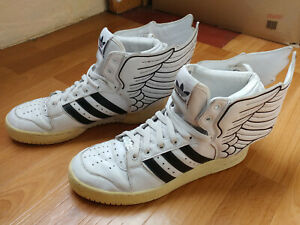 prix compétitif 74e13 3445e Details about Adidas Jeremy Scott Wings 2.0 sneakers Instinct Hi Top JS  White Obyo G19589 9,5