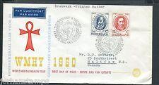 FDC E44 - E 44, WMHY 1960, met getypt adres naar Canada