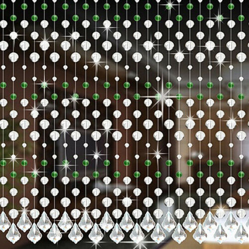 Crystal Glass Bead Curtain Luxury Living Room Bedroom Window Home Parting Decor