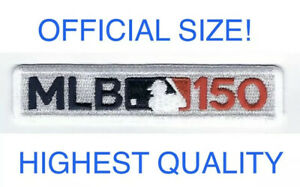 MLB-150TH-ANNIVERSARY-PATCH-JERSEY-150-SLEEVE-STYLE-3-5x-5-034-BASEBALL-LIMITED-ED