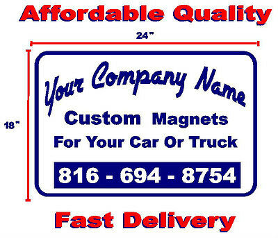 """3  Custom Magnetic Signs  18"""" X 24""""    Business-Political-Events-Ads"""