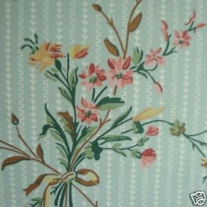 12sr-Blue-Floral-Waterhouse-Historic-Archival-Antebellum-Victorian-Wallpaper