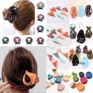 Acrylic Hair Claw Hair Clip Girls Banana Grip Hairpin Crab Jaw Clamp Barrette