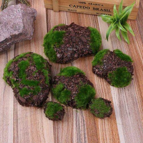 6Pc Artificial Fake Faux Emulation Moss Fuzzy Stones Bonsai Home Decor Chic