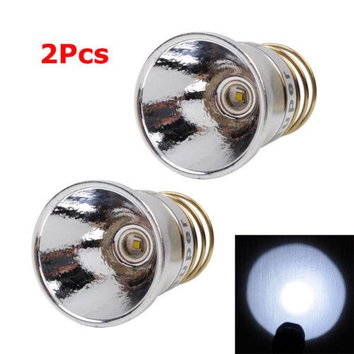 2Pcs 350 Lumen Q5 LED Bulb Conversion for SureFire 6P 9P solarforce L2//L2N