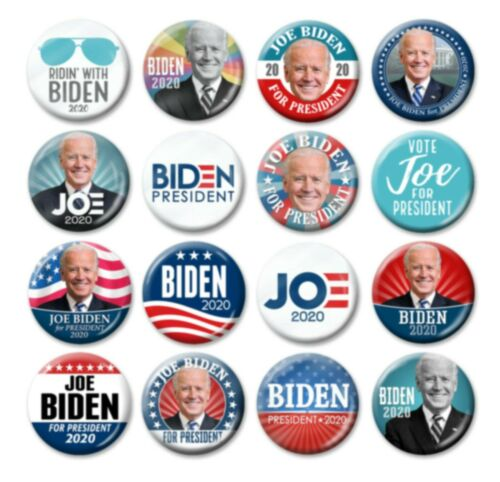 Joe BIDEN for President 2020 photo campaign pins ridin/' with 25-Pack Buttons