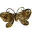 Vintage-Napier-Gold-Tone-Metal-Mesh-Butterfly-Brooch-Pin-w-Faux-Pearls thumbnail 2