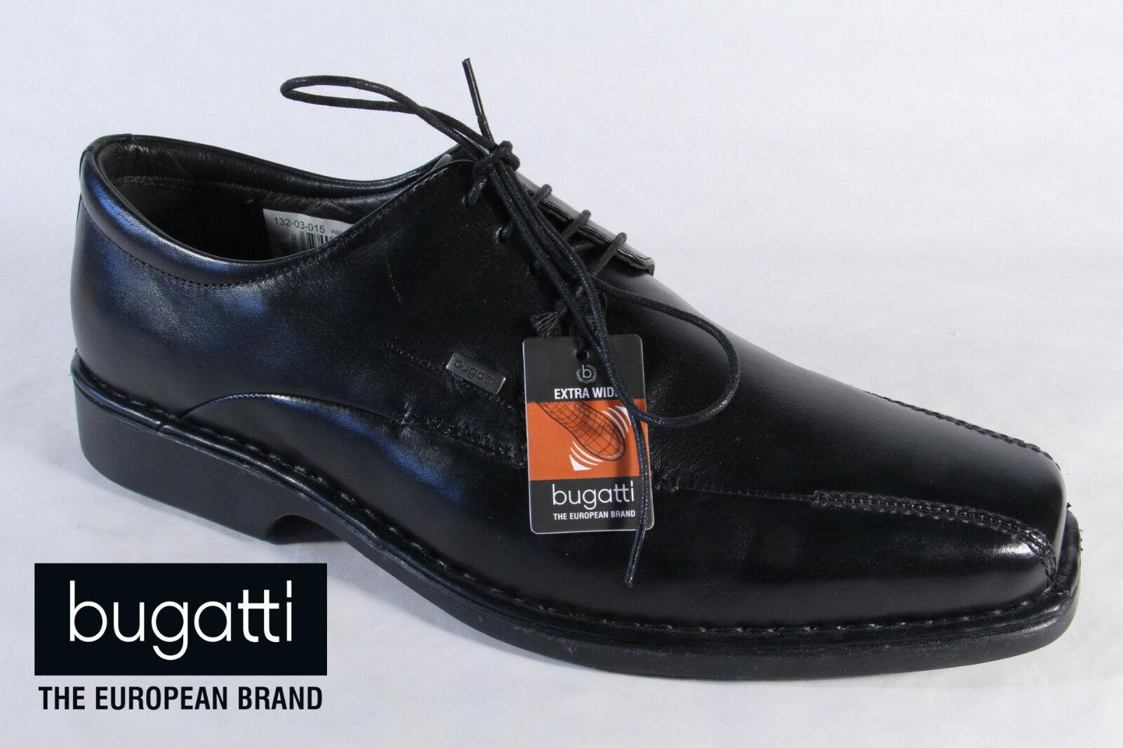 Bugatti Homme Chaussures à Lacets, Chaussures Basses paniers Noir Cuir Neuf