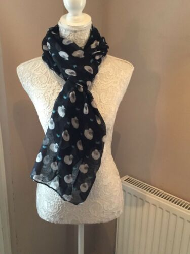 A Selection Of animal  scarves shawl scarf brand new Cat sheep owl present gift