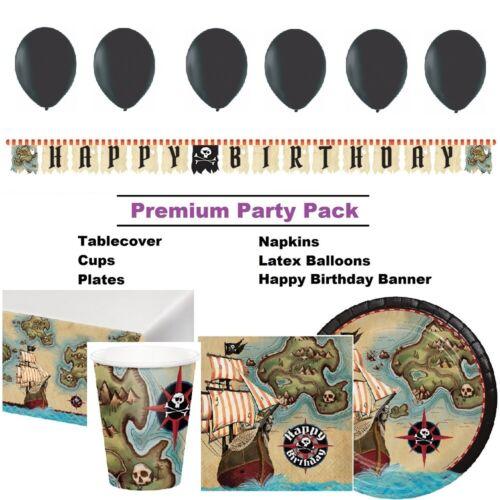 Décorations /& Ballons PIRATE carte au Trésor Fête Vaisselle
