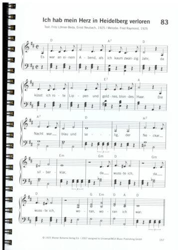 Volkslieder und Schlager Klavier Noten leicht Singen hält jung