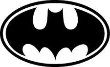 20 water slide nail art transfer decals black bat man logo 3/8 inch Trending