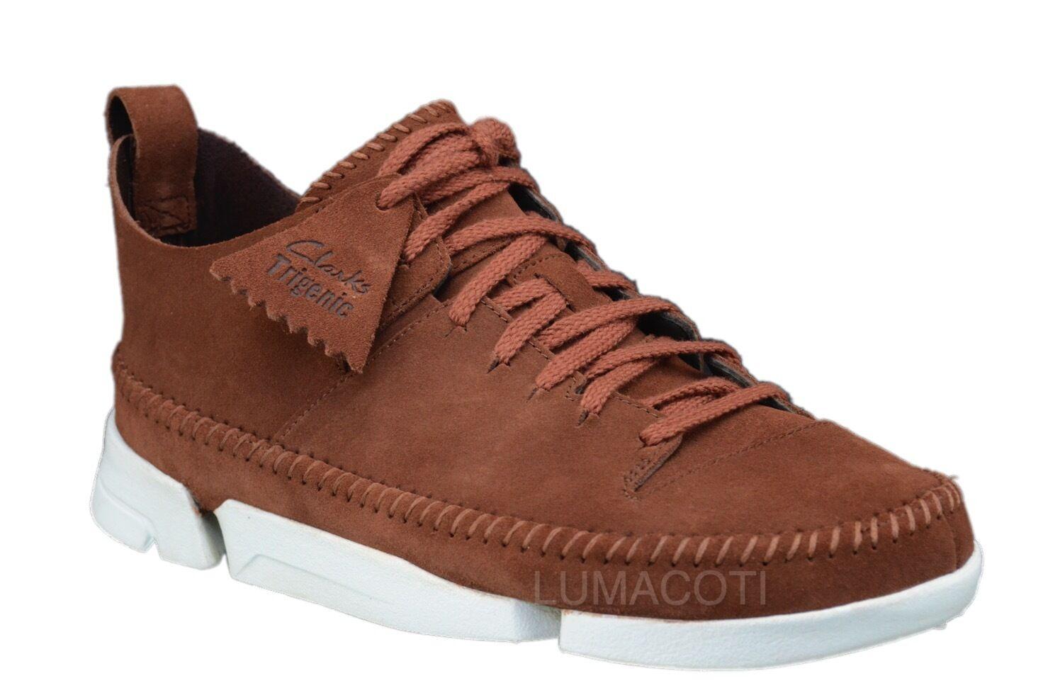 Mens Clarks Originals Trigenic Flex Dark Tan Ankle Boots 26121557