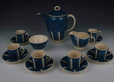 Susie Cooper Regency Leaf Coffee set.