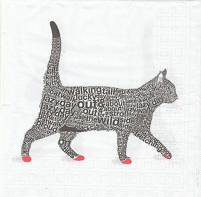 2 Serviettes en papier Le Chat Decoupage Paper Napkins The Cat