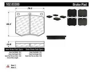 Disc Brake Pad Set-C-TEK Metallic Brake Pads Rear,Front Centric 102.07690