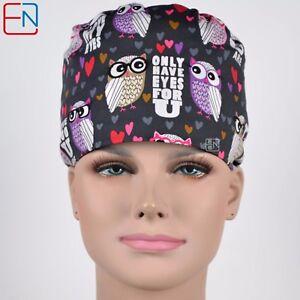 unisex Surgical caps for doctors/&nurses 100/% cotton-pixie-scrub// medical cap//hat