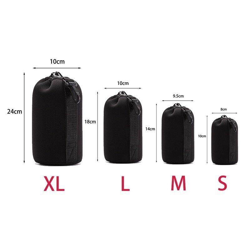 Soft Neoprene S M L XL Lens Pouch Bag Canon Nikon Sony Pentax DSLR Camera 4