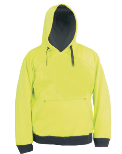 Men/'s Green Fleece Polyester Work Construction Safety Pullover Hoodie