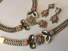 México Taxco Collar de plata esterlina pulsera collar pendientes Parure Arte en Vidrio