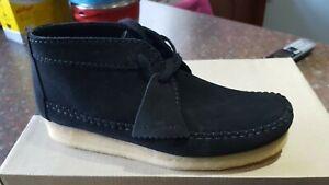 Municipios dividir Chelín  Clarks Originals Womens Wallabee Weaver Boots Black Suede UK 6.5 D   eBay