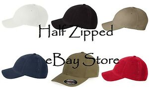 b7c5ff3f1 Image is loading Flexfit-Fitted-Baseball-Hat-6997-NEW-Garment-Washed-