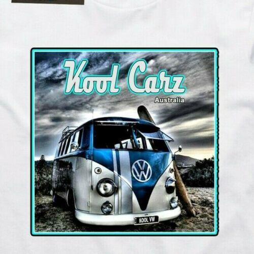 VW Kombi Surf Beach. Split screen Vintage VW Camper van T-shirt AS Colour