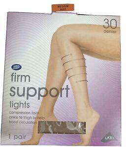 Boots Firm Ladies Support Tights 30 Denier Medium Mist