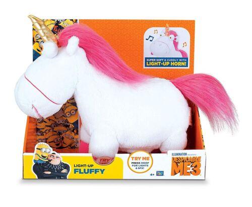 Despicable Me 20268 Fluffy Unicorn Peluche avec Lumière-up Horn Toy Figure