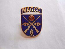 Vintage Milwaukee Air Gun Combat Club BB / Pellet Gun Enamel Crest Pin
