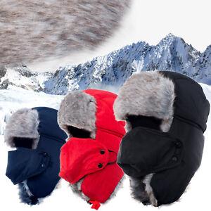 972d1ab31 Men Women Winter Russian Hat Trooper Bomber Snow Ski Ushanka Warm ...