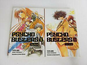 PSYCHO BUSTERS the Novel Vol 1 and 2 / Light Novels ENGLISH