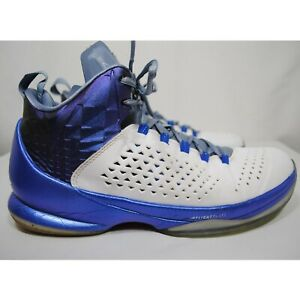 online store 5a142 d14cd Image is loading Nike-Jordan-Melo-M11-White-Royal-Blue-Basketball-