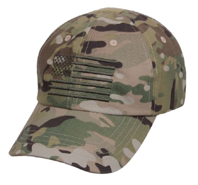 US MultiCam TACTICAL OPERATOR Army Cap Tarnmütze Mütze w US Flagge