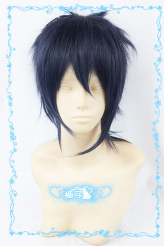 730 Touken Ranbu The Sword Dance Mikazuki Munechika Short Blue mix Cosplay Wig