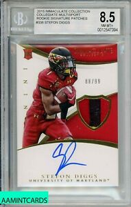 2015-IMMACULATE-COLL-Stefon-Diggs-338-COLLIGATE-MULTISPORT-RC-99-RPA-BGS-8-5