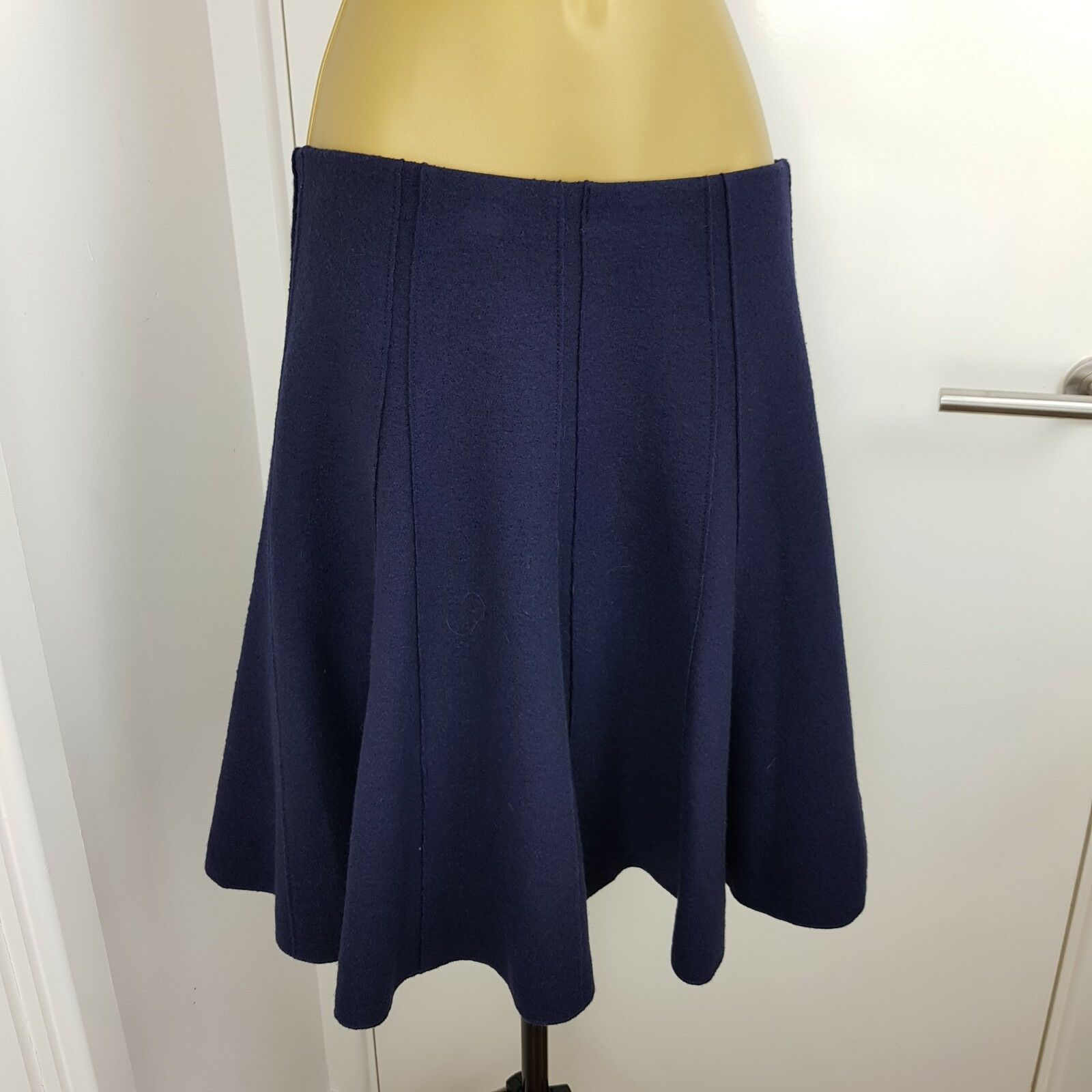 Authentic Marc Cain Skirt Midi Wool Navy Size N 2