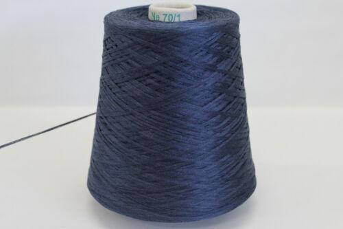 28,32€//kg 4 A28 Wolle Mercerisiert 600g KRISTALL BAUMWOLLE SAPHIRBLAU